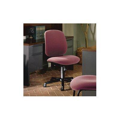 7700 Series Mid-Back Desk Chair Upholstery: Burgundy