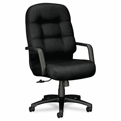 Pillow-Soft Series Executive Chair Upholstery: Black