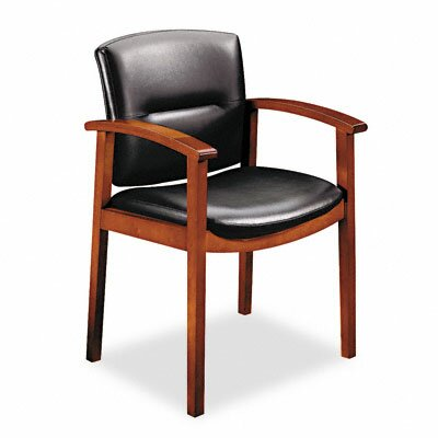 Park Avenue Leather Office Chair Finish: Henna Cherry, Seat Material: Leather