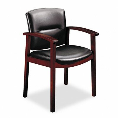 Park Avenue Leather Office Chair Finish: Mahogany, Seat Material: Leather