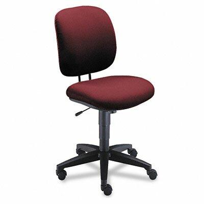 ComforTask Mid-Back Desk Chair Upholstery: Burgundy