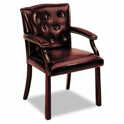 6540 Series Guest Chair Upholstery: Oxblood Vinyl