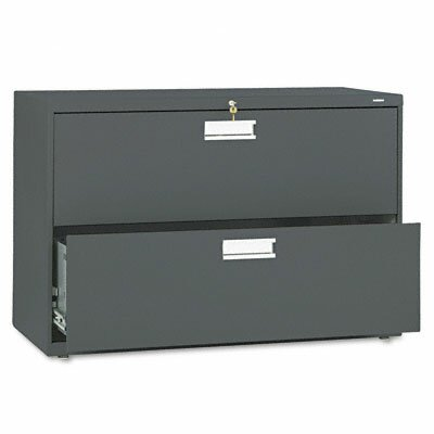 Brigade 600 Series 2-Drawer Lateral Filing Cabinet Finish: Charcoal