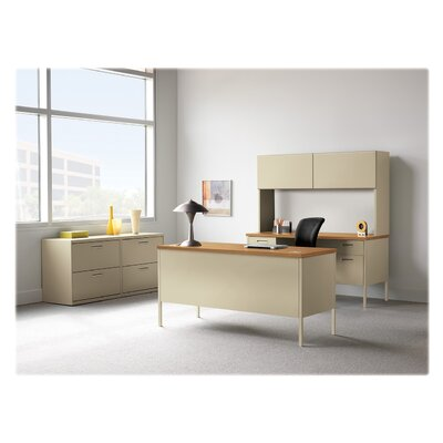 "Metro Classic Executive Desk Size: 32.75"" H x 50.75"" W x 22.5"" D, Finish: Harvest/Putty, Orientation: Right"