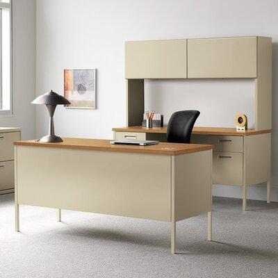 "Metro Classic Executive Desk Orientation: Right, Finish: Mocha/Black, Size: 32.4"" H x 68.4"" W x 22.5"" D"