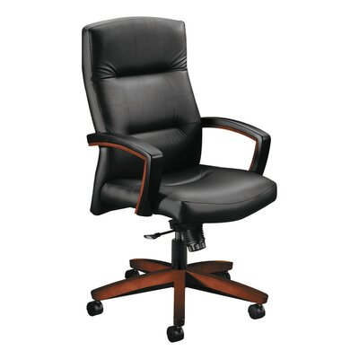 Park Avenue Series High-Back Leather Executive Chair Finish: Henna Cherry, Upholstery: Leather