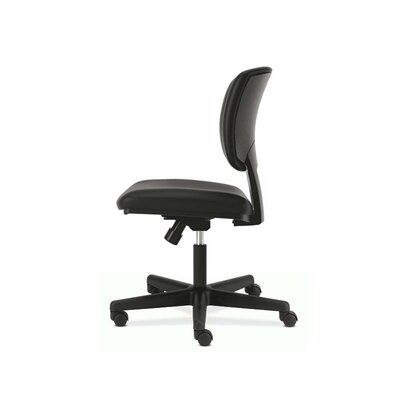 Volt Mid-Back Leather Desk Chair Seat Mechanism: Center Tilt, Arms: No
