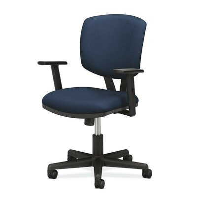 Volt Mid-Back Desk Chair Seat Mechanism: Center Tilt, Upholstery: Navy, Arms: No