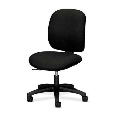 ComforTask Mid-Back Desk Chair Upholstery: Black