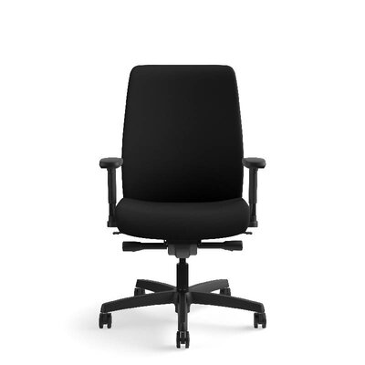 Endorse Mid-Back Desk Chair Upholstery: Black Centurion, Arms: Adjustable Arms