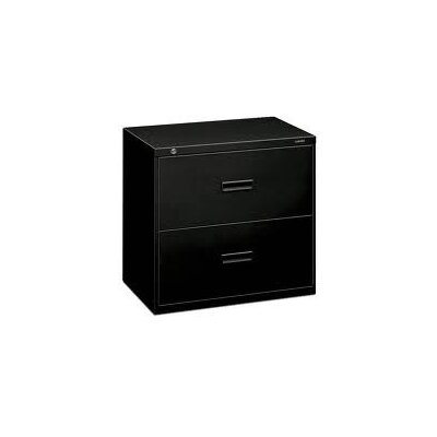 400 Series 2-Drawer Lateral Filing Cabinet Finish: Black
