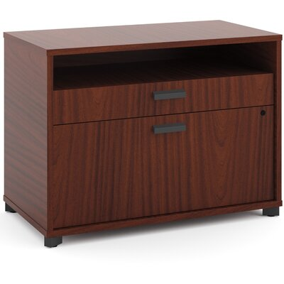 Manage Credenza 2-Drawer Lateral Filing Cabinet Finish: Chestnut