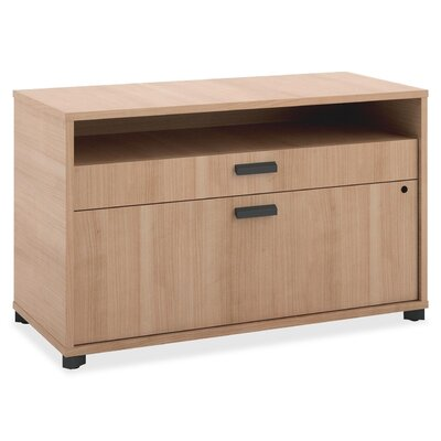 Manage Credenza 2-Drawer Lateral Filing Cabinet Finish: Oak