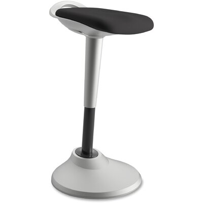 Height Adjustable Industrial/Shop Stool Color: Black