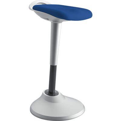 Height Adjustable Industrial/Shop Stool Color: Blue