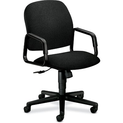 Solutions - 4000 Series Mid-Back Desk Chair Upholstery: Black