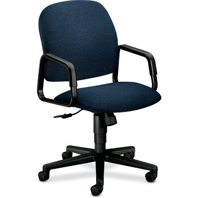 Solutions - 4000 Series Mid-Back Desk Chair Upholstery: Blue Confetti