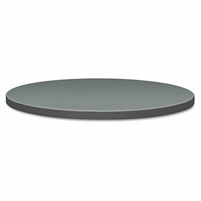 """Self-Edge Round Hospitality Table Top Color: Charcoal, Size: 36"""" Dia"""