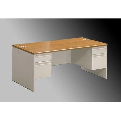 """38000 Series Desk Finish: Medium Oak/Putty, Size: 29.5"""" H x 60"""" W x 24"""" D"""