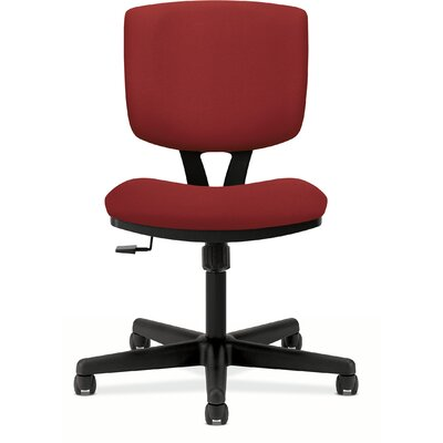Volt Mid-Back Desk Chair Seat Mechanism: Center Tilt, Upholstery: Crimson, Arms: No