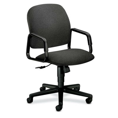 Solutions - 4000 Series Mid-Back Desk Chair Upholstery: Gray Confetti