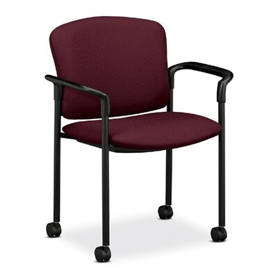 Mobile Stacking Guest Arm Chair Seat Finish: Wine, Arms: With Arms