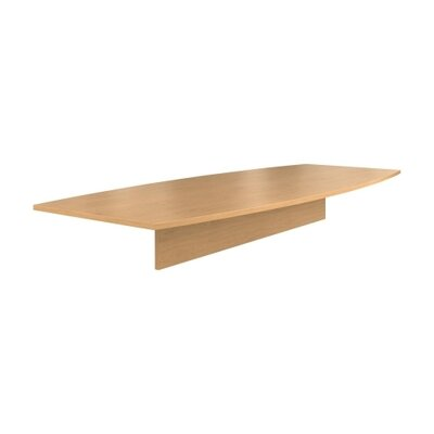 """Preside Boat-shaped Conference Tabletop Finish: Harvest, Size: 120"""" W"""