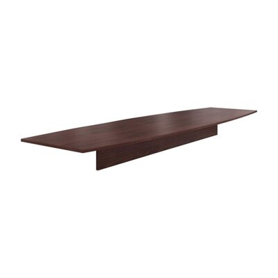 """Preside Boat-shaped Conference Tabletop Finish: Mahogany, Size: 168"""" W"""