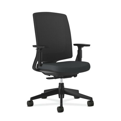 Lota High-Back Mesh Desk Chair Frame Finish: Black, Upholstery: Navy