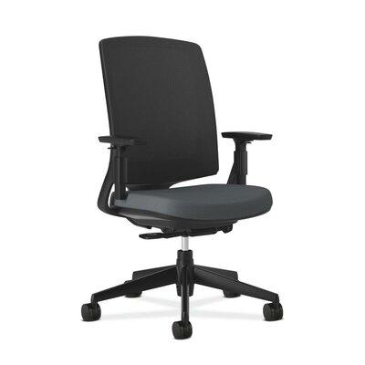 Lota High-Back Mesh Desk Chair Frame Finish: Black, Upholstery: Charcoal