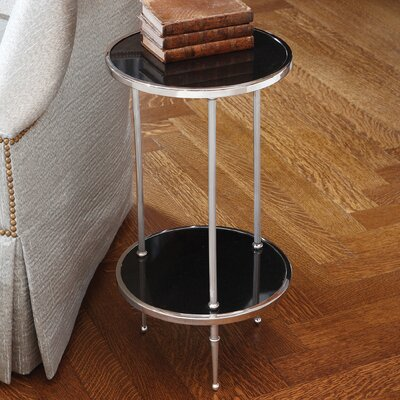 Multi-Tiered Telephone Table Color: Nickel