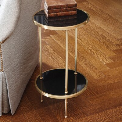 Multi-Tiered Telephone Table Color: Antique Brass