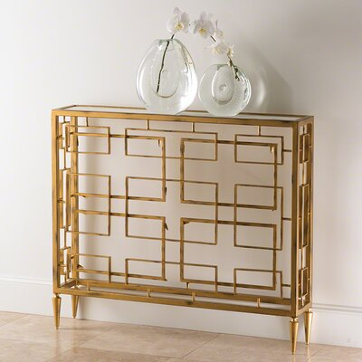 Console Table Color: Gold