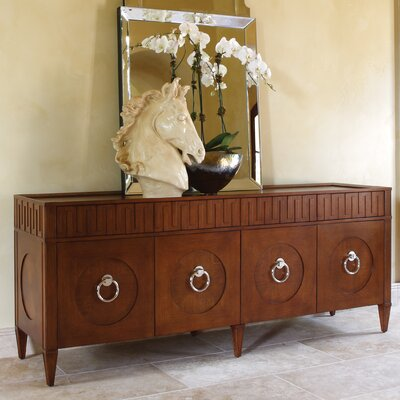 French Key Everything Accent Cabinet Color: Dark Oak