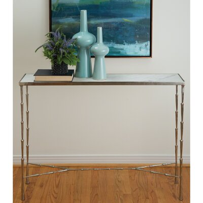 Ruano Console Table Color: Antiqued Nickel