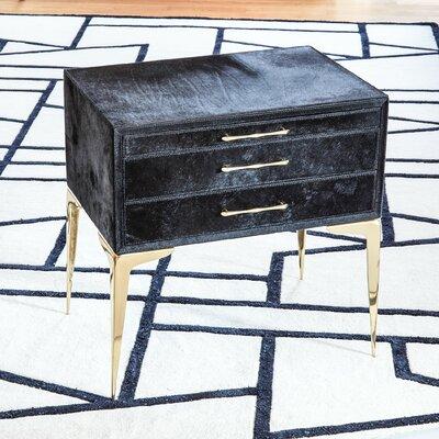 Stiletto Bedside 3 Drawer Accent Chest Color: Black