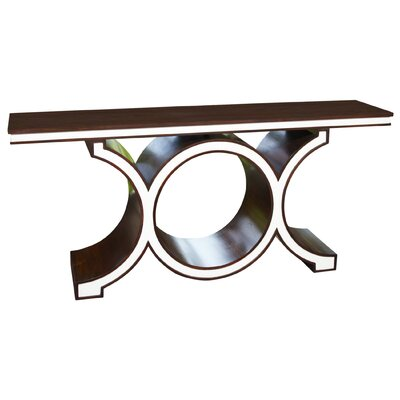 Link Console Table Color: Walnut/Ivory