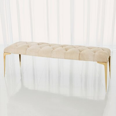 Stiletto Upholstered Bench Upholstery: White