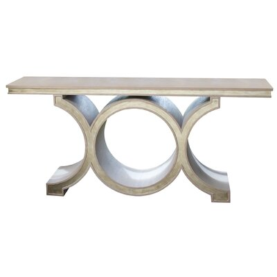 Link Console Table Color: Gray/Silver Leaf