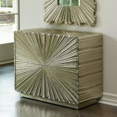 Linen Fold 2 Drawer Accent Chest Color: Silver