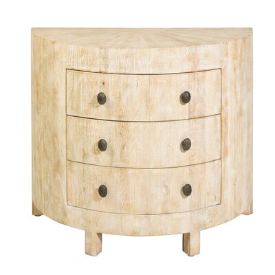 Driftwood Demi Lune Accent Chest