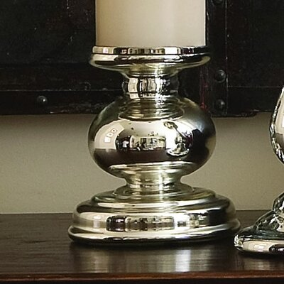 Global Views Cheltenham Glass Candlestick