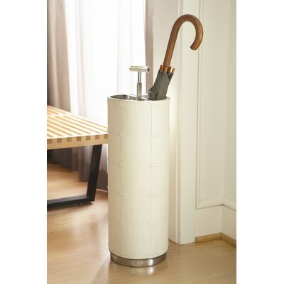 Umbrella Stand Color: Beige Leather