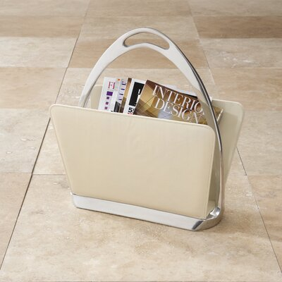 Stirrup Magazine Dump Color: Beige Leather