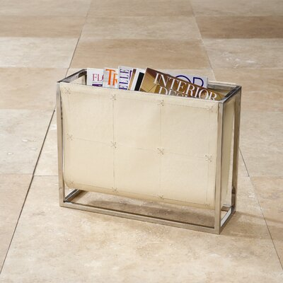 Magazine Caddy Rack Color: Beige Leather