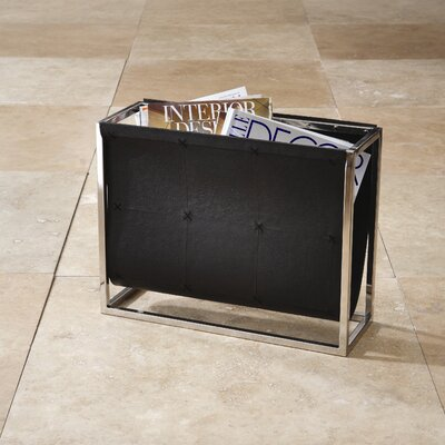 Magazine Caddy Rack Color: Black Leather