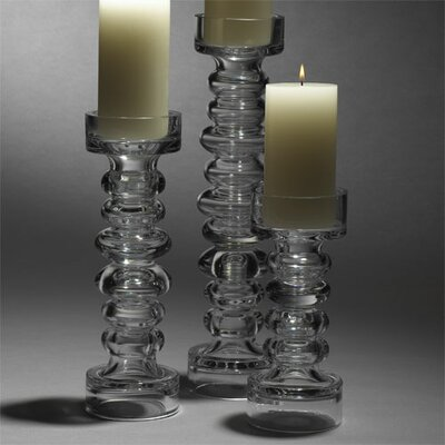 Global Views Glass Ribbed Candle Holder and Vase