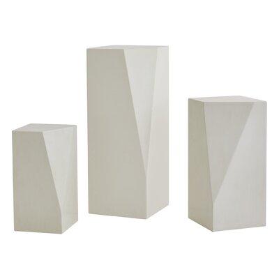 """Facet Pedestal Plant Stand Size: 30"""" H x 14"""" W x 14"""" D"""