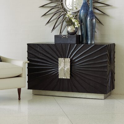 Pleated 2 Door Accent Cabinet