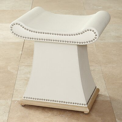 Sultan Vanity Stool Color: Ivory